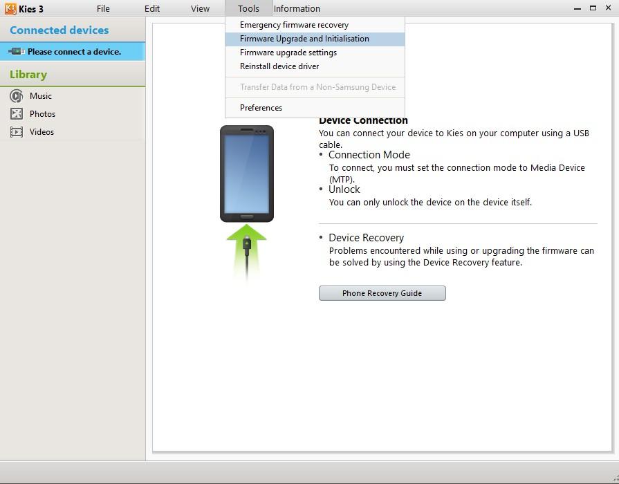 Penampakan Kies3 Untuk Install Samsung USB Drivers