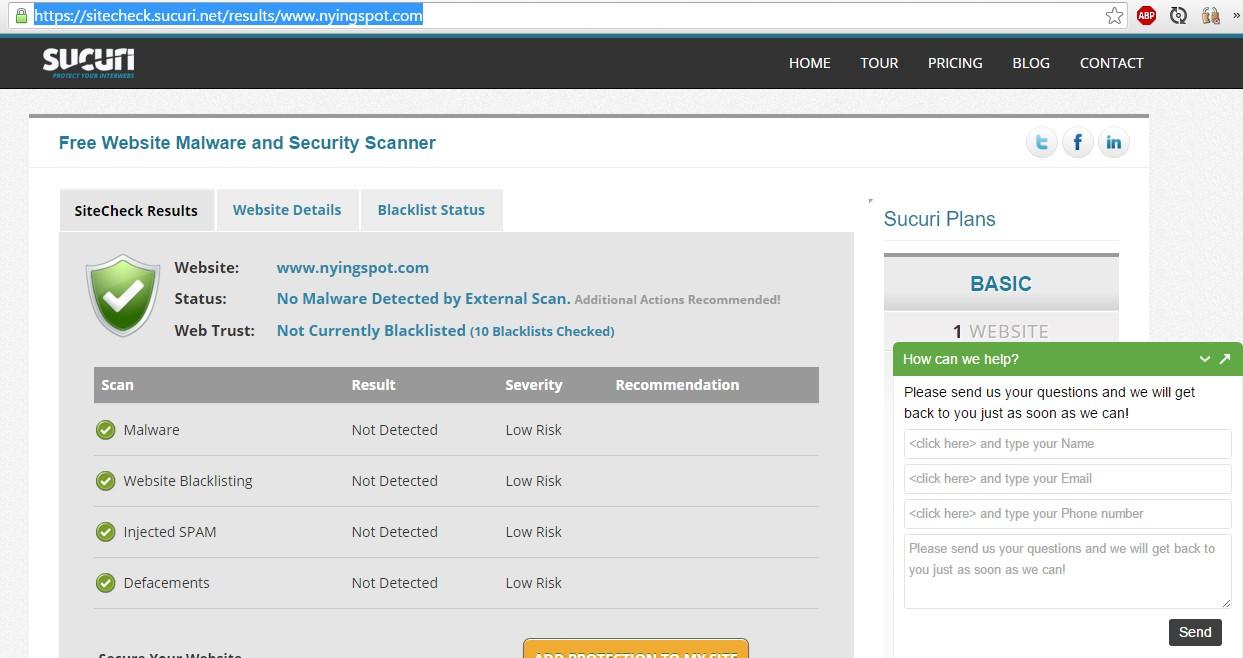 nyingspot.com-sucuri-sitecheck-result-virus-free