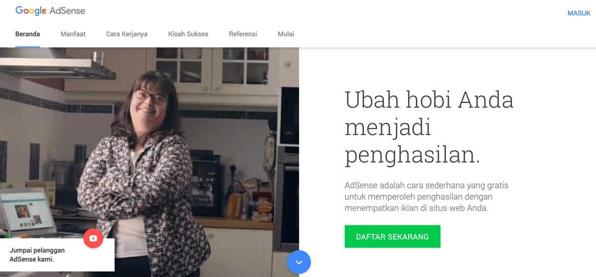 AdSense Homepage